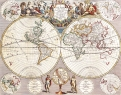 Antique Maps of the WorldMap of the WorldJohn Seneyc 1721