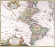 Antique Maps of the WorldThe AmericasHomanns Heirsc 1746
