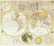 Antique Maps of the WorldDouble Hemisphere World MapSamuel Dunnc 1780