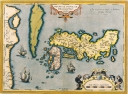 Antique Maps of the WorldMap of JapanAbraham Orteliusc 1590